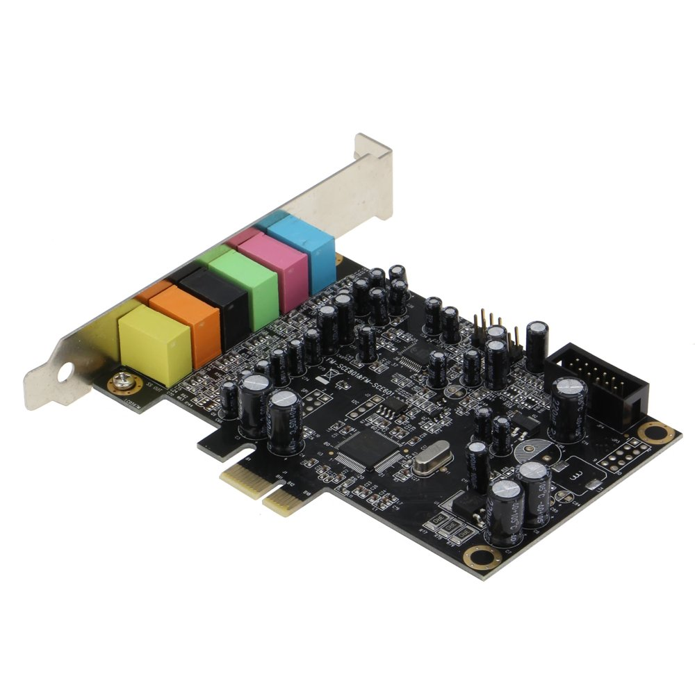 SEDNA - SE-PCIE-SC-10 High Quality PCIe 7.1 Channel Sound card ( CM8828 + CM9882A ) with SPDIF Bracket by Sedna