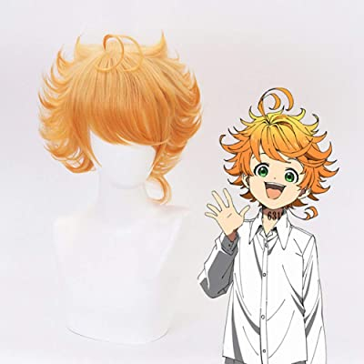 Bowinr The Promised Neverland Cosplay Wig, Japanese Anime Synthetic Hair Wig for Cosplay and Daily Use(Emma): Arts, Crafts & Sewing