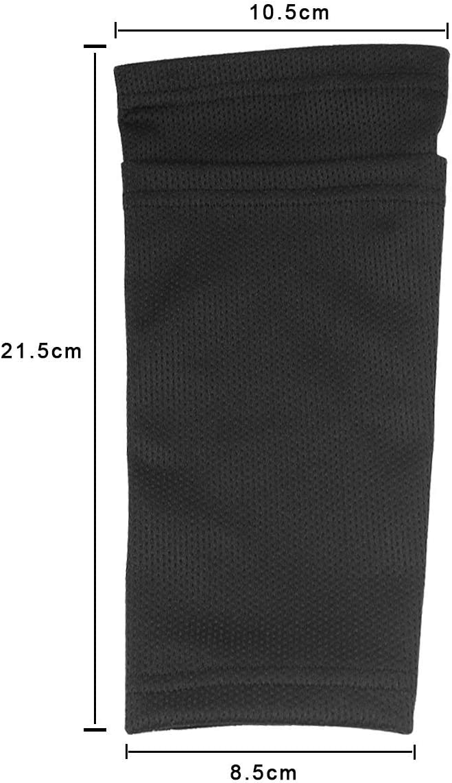 doppelschichtige Socken f/ür Erwachsene Teenager Unisex Deyiming Fu/ßball-Schienbeinschoner Feste /Ärmel Kinder