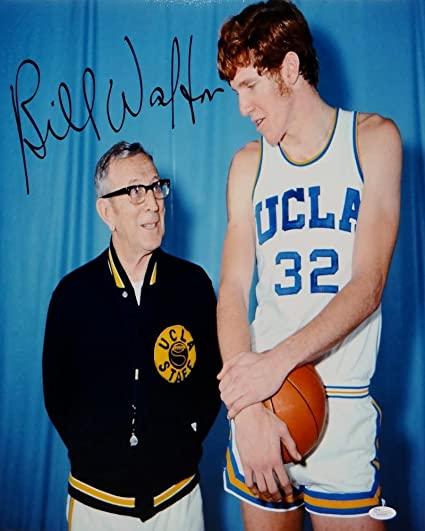 388865669 Bill Walton Autographed UCLA 16x20 Next to John Wooden Photo- JSA Witnessed  Auth at Amazon s Sports Collectibles Store