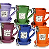 Divinity Flowerpot Mug-Assortment (Pack Of 18) (#24686)