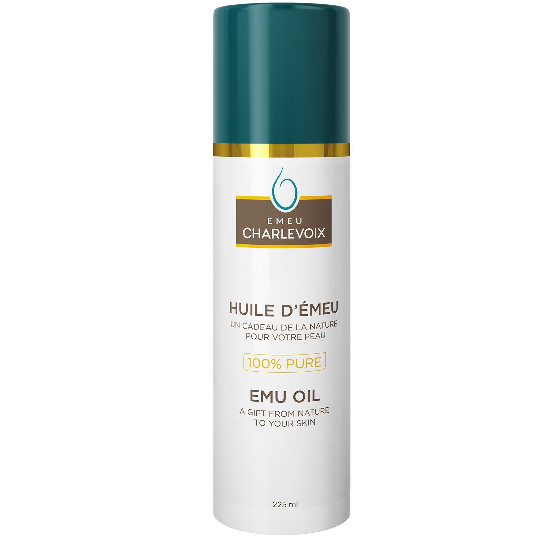 100% Pure Emu Oil – Made in Canada – Award-Winning Quality – 225 ml EMEUCHARLEVOIX