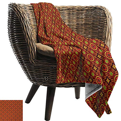 - AndyTours Picnic Blanket,Geometric,Sindhi Ajrak Graphic Design Flower Motifs Ornamental Details Traditional Eastern,Multicolor,Colorful | Home, Couch, Outdoor, Travel Use 60