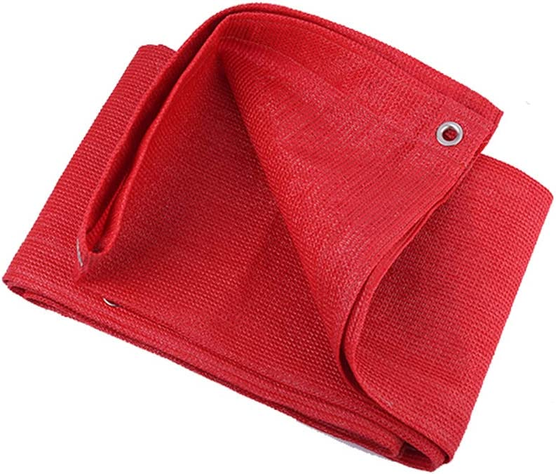 Xgxyklo Sun Shade Sail, Rectangle Canopy Sail Shade for Patio Garden Outdoor Facility and Activities,Red,1Mx2M