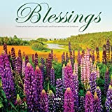 Blessings 2018 12 x 12 Inch Monthly Square Wall Calendar by Wyman, Religious Prayers Inspiration