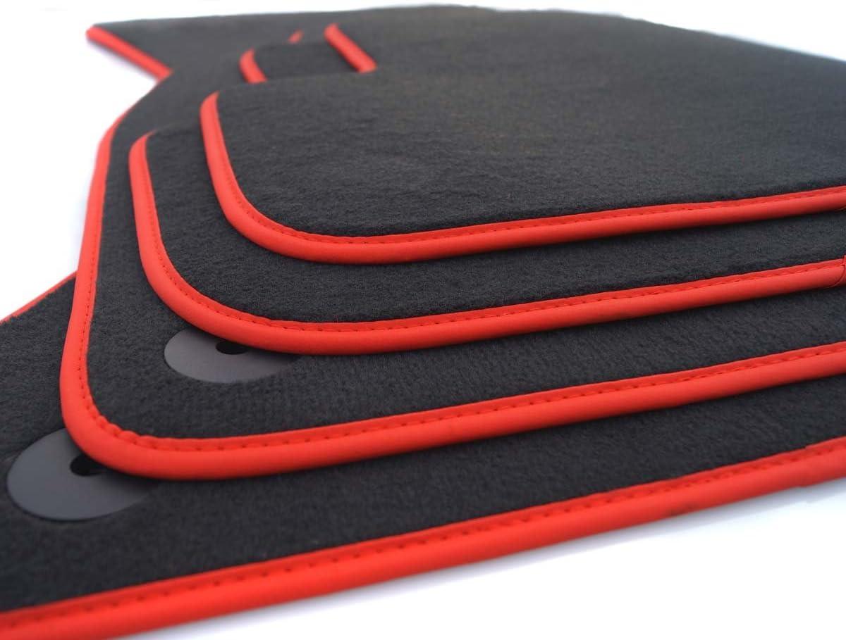 kh Teile Gummimatten passend f/ür Polo 9N Gummi Fu/ßmatten 4-teilig schwarz
