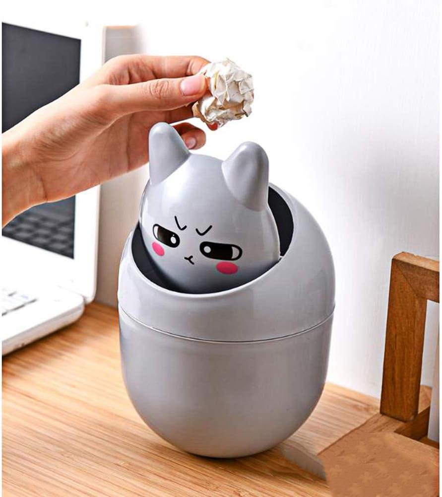 D/étritus De Stockage Desktops Cute Animal Trash Can Poubelle pour Office Enfants Chambre Utilisation Bo/îte De Rangement LUOXU Mini Corbeille avec Couvercle