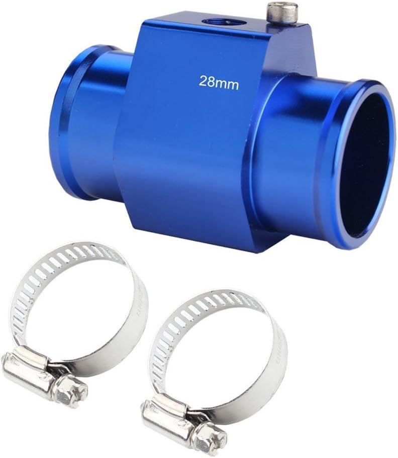 JUDING Aluminum Red Water Temp Meter Temperature Gauge Joint Pipe Radiator Sensor Adaptor Clamps 36mm
