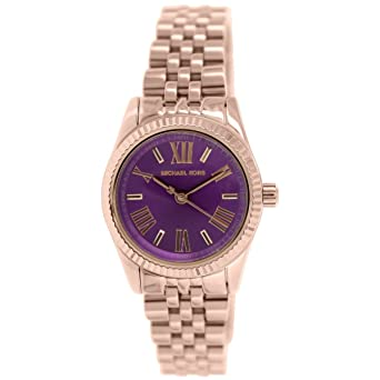 349535aedc79 Image Unavailable. Image not available for. Color  Michael Kors MK3273  Women s Mini Lexington Rose Gold-Tone Stainless Steel Bracelet Watch
