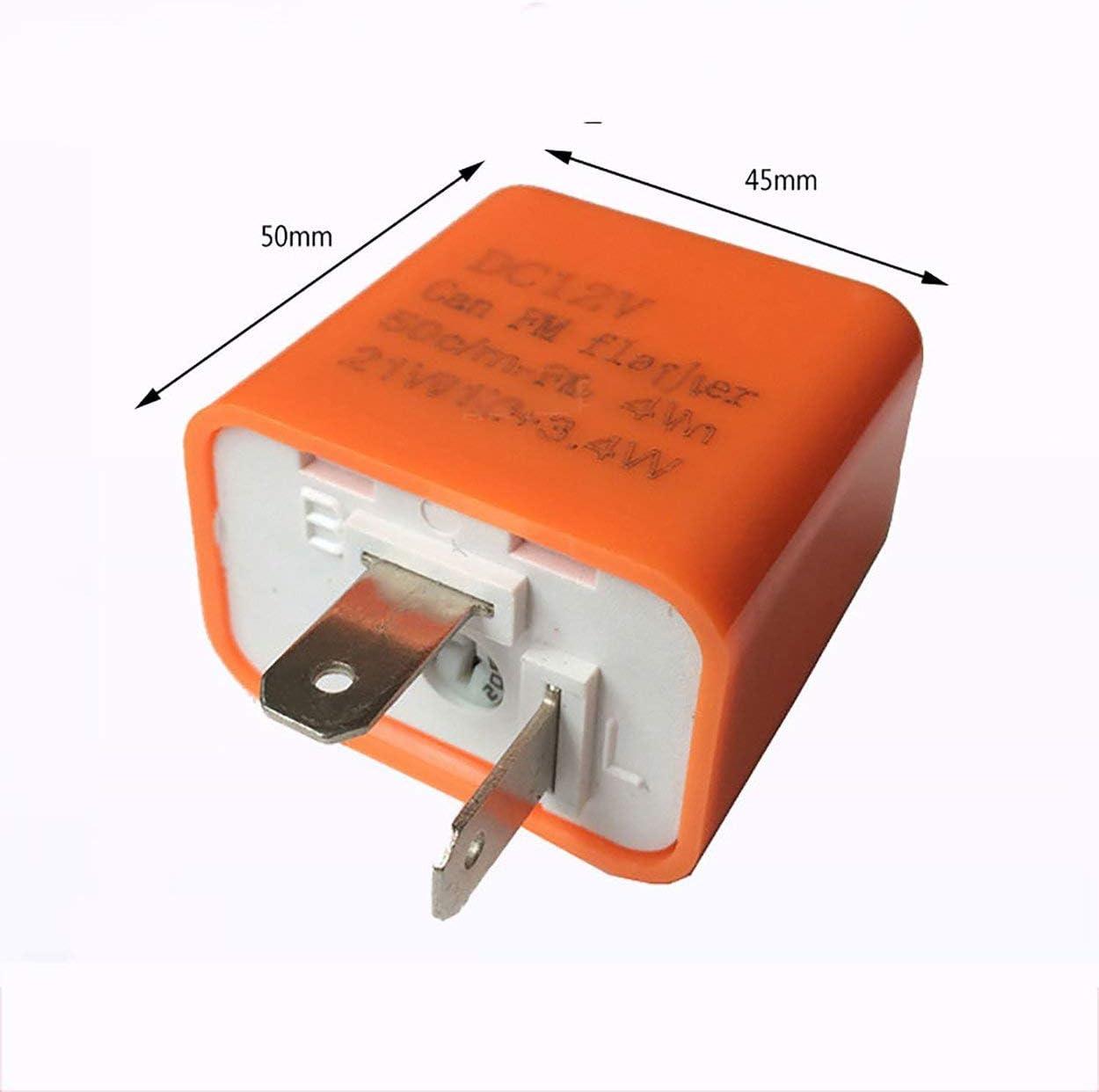 Tree-on-Life Multifonctionnel 2 Vitesse Indicateur R/églable LED Indicateur /Étanche Clignotant R/ésistance Fix Flash pour Moto 12V