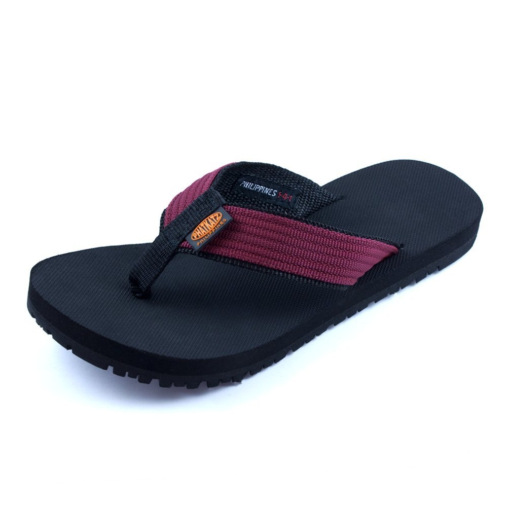 Phatkatz Unisex Summer Beach Pool Flip Flops Beach Slippers Home Casual Sandal (7, Burgandy)