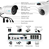 Reolink 4MP 8CH PoE Video Surveillance System, 4pcs Wired Outdoor 1440P PoE IP Cameras, 5MP 4MP Supported 8 Channel NVR Security System with 2TB HDD for 24/7 Recording