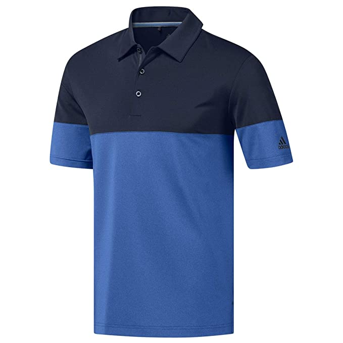 080b7dd3 adidas Men's Ultim 365 Heather Blocked Polo Shirt Lc Blue Azul Oscuro  Dz5719, X-