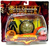 : Pirates Of The Carribean 3: Pirate King Elizabeth Swan with Glowing Brethern Court Globe & Sword