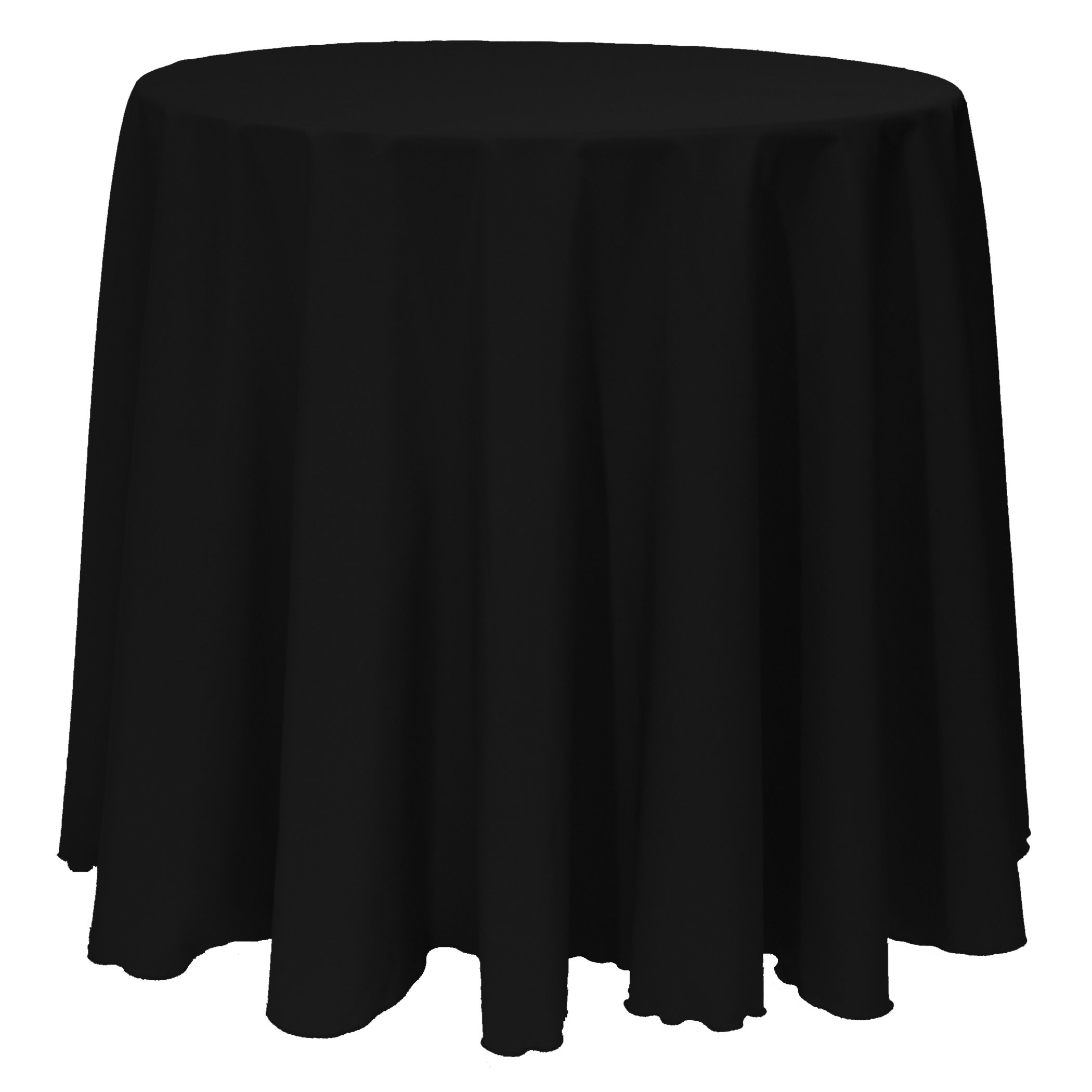 Ultimate Textile (10 Pack) 90-Inch Round Polyester Linen Tablecloth - for Wedding, Restaurant or Banquet use, Black by Ultimate Textile (Image #2)