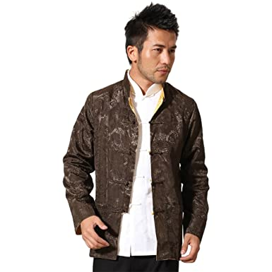 ab7648530 Amazon.com: ZooBoo Chinese Tang Suit Traditional Ancient Costume Kung Fu  Long Sleeve Both Sides Wear Tops for Men: Clothing