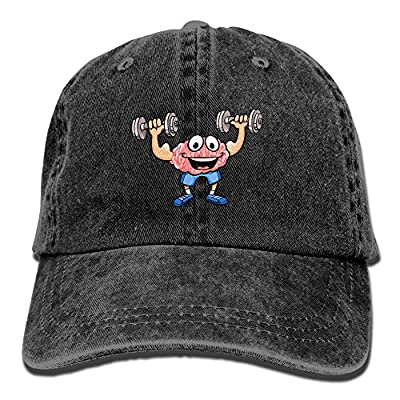 NZWJW85 2018 Adult Fashion Cotton Denim Baseball Cap Cartoon Brain Training Classic Dad Hat Adjustable Plain Cap