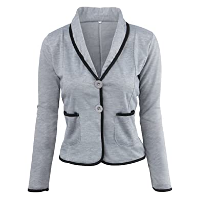 Mantel Kurzjacke Jäckchen Damen Jacke Blazer Anzug Zkoo Kurz gPfwq4