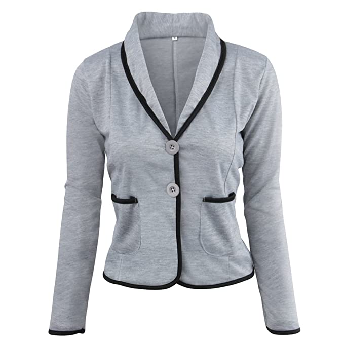 ZKOO Blázer Abrigo Mujer Blazer Color Sólido Americana Blazer Traje Blazer De Slim Chaqueta Del Traje