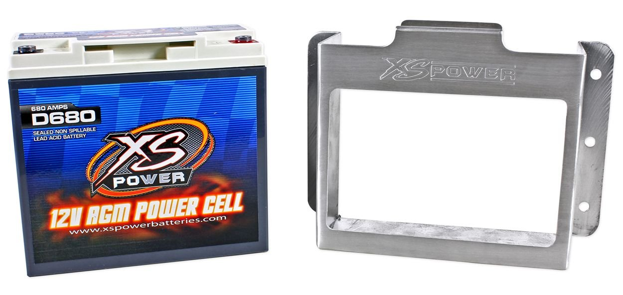XS Power D680-511 1000 Amp AGM Power Cell Car Audio Battery + 511 Mounting Kit