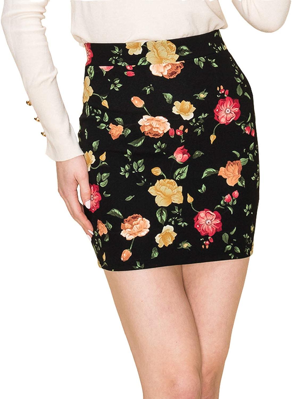 New Womens Plus Size Bodycon Jersey Pencil Midi Skirts Royal Blue, 2X