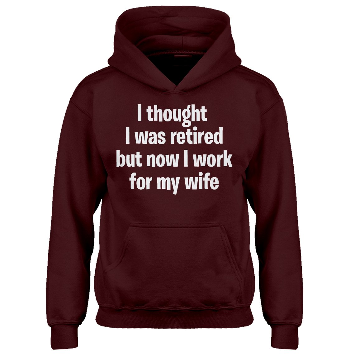 Indica Plateau Kids Hoodie I Thought I was Retired Large Maroon Hoodie