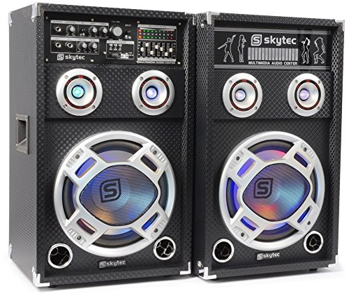 Skytec KA-26 800W Set d'enceintes - Sets d'enceintes (800 W, Universel, 800 W, 55-20000 Hz, 8 Ohm, 16,5 cm (6.5)) 5 cm (6.5)) 178.415