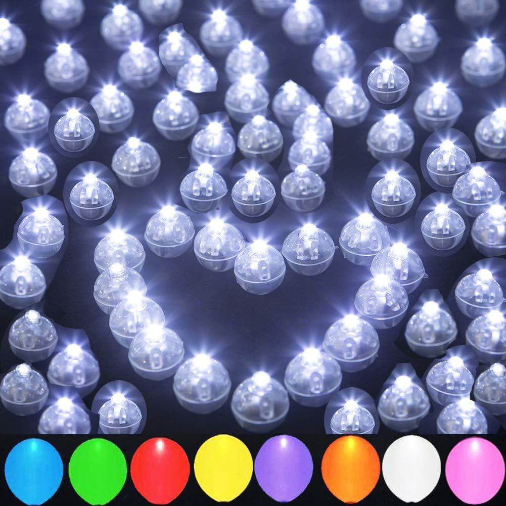 2 x White Light LEDs Mini Waterproof Vase Latern Cake Table Party Decorations