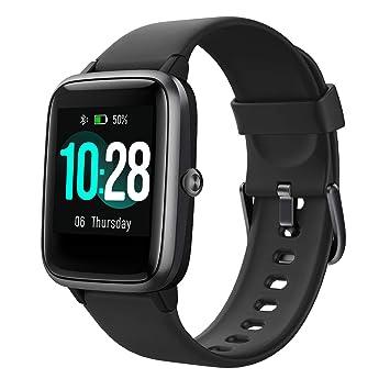 Arbily Fitness Rastreador Smartwatch Pantalla Táctil para Mujeres Hombres Niños Impermeable IP68 Monitor de Frecuencia Cardíaca Podómetro Contador de ...