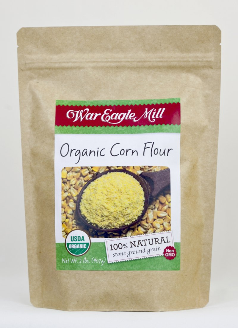 War Eagle Mill Organic Corn Flour in a resealable bag (2 lbs)