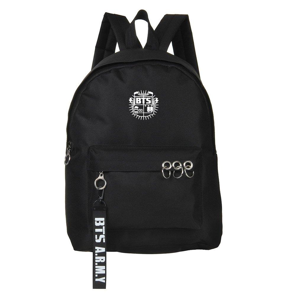 Bosunshine BTS Love Yourself V Suga Jin Jimin Jung Kook Casual Backpack Daypack Laptop Bag College Bag Book Bag School Bag White