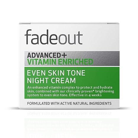 Fade Out Advanced y Vitamina enriquecido incluso tono de piel crema de noche, 50 ml