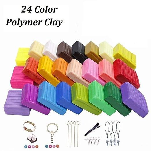 24 Colores DIY Hornear Arcilla Polimérica, Juguete de Arcilla ...