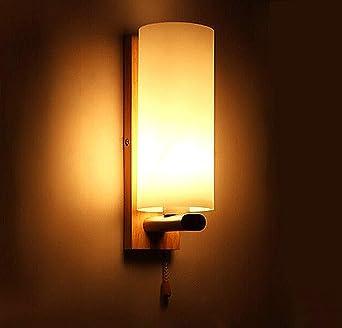 Muro lampe-moderne minimaliste cámara de madera pared lámpara Mini porche appliques murales Décor de