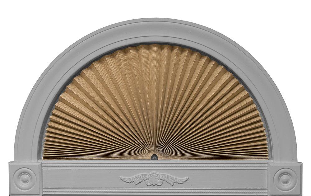 "Original Arch Sheer View Solar Fabric Shade, Natural, 72"" x 36"""