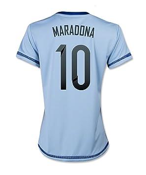 Adidas MARADONA #10 Argentina Camiseta 1ra Futbol 2015 (MUJER) - Nombre Auténtico y