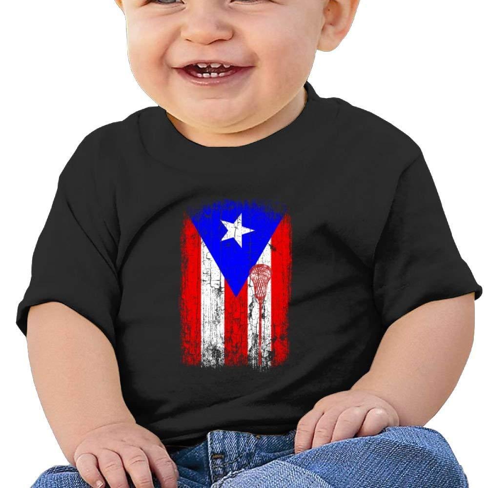 Cute Short Sleeves T Shirt Puerto Rico Flag Birthday Day Baby Boy Toddler