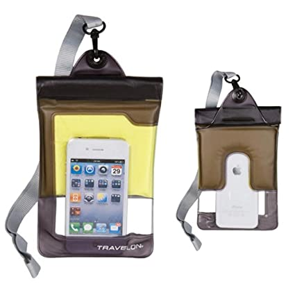 buy online 4d34e a68f8 Travelon Floating Waterproof Smart Phone/Digital Camera Pouch, Yellow