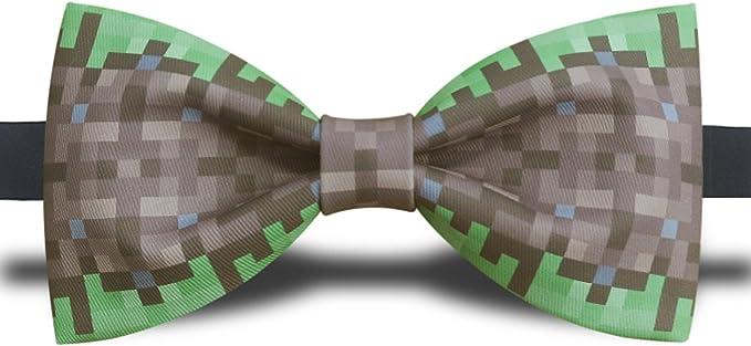 Cloud rack Pixel juego impresión corbata (marrón y verde): Amazon ...
