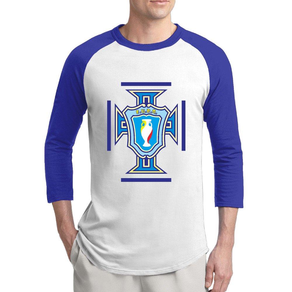 Portugal Football Uefa Euro Logo Raglan Sleeves T Shirt For 5205