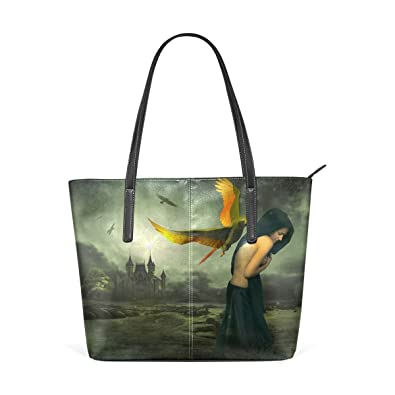 Amazon.com: Para mujer bolsos de piel FANTASY Funny bolsos ...