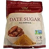Royal Palm 100% Pure Date Sugar (16 oz), All Natural, Certified Vegan, Gluten Free, NON-GMO Verified, Kosher
