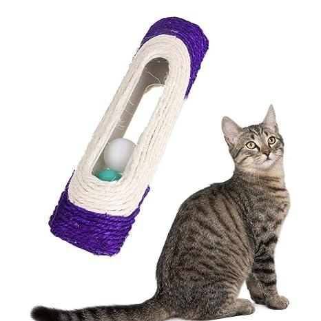 Owikar - Poste rascador para gato y gato con 3 bolas de pelota trapeteadas para mascotas