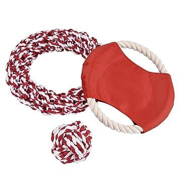 Frisbee para perros & anillo de tejido de algodón y pelota, Y56 3 ...