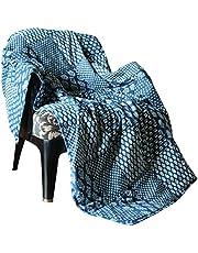 Indigo Blauw Katoenen Plaid Deken Voor Sofa Stoel En Bank Decor 60X50 Inch Boho Indian Decoratief Zacht En Warm Bohemian Luxe Plaids Woon- En Slaapkamer
