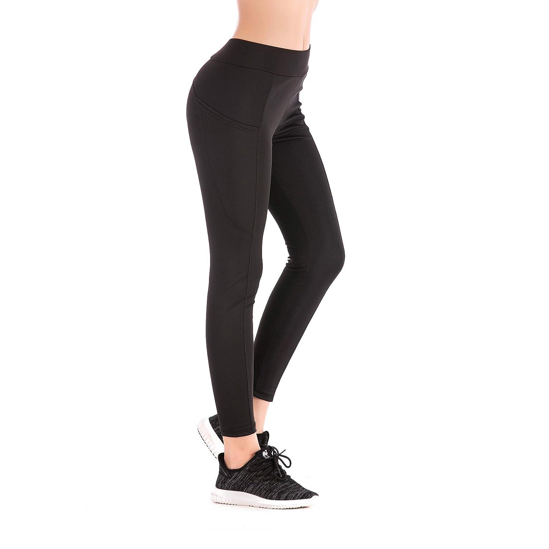 YEYELE Workout Leggings High Waist Plus Size Running Yoga Pants