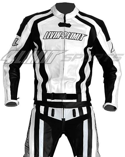 4LIMIT Sports 200100004110 Traje para Moto de Cuero, Blanco ...