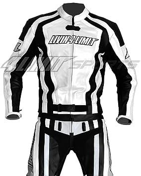 4LIMIT Sports 200100004101 Traje para Moto de Cuero, Blanco ...
