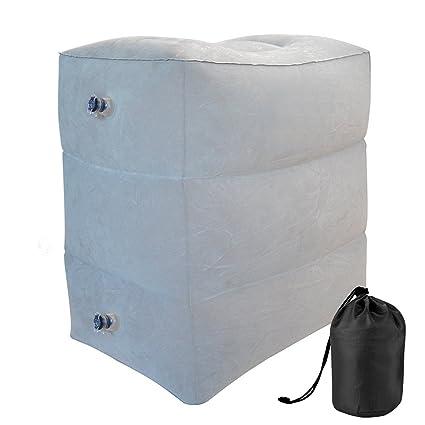 Almohada de descanso para las piernas, Almohada de viaje inflable para los pies para niños que duermen en el coche