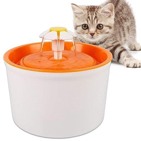Dispensador de agua para fuente de animal doméstico - 1.6L Flor Estilo Gato Fuente de agua ...